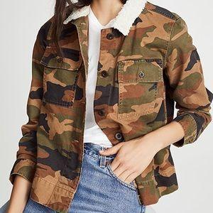 NEW Madewell Northward Cropped Camo Army Jacket